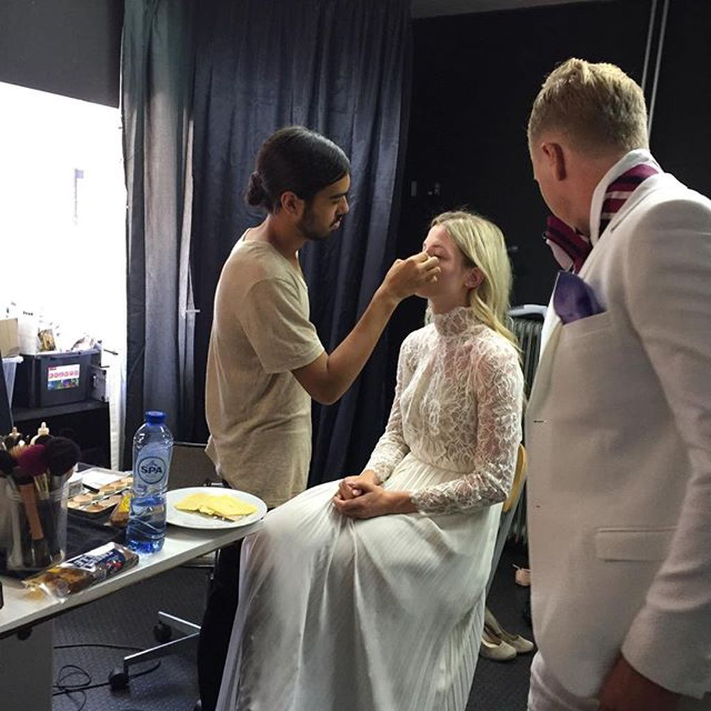 make up and styling room