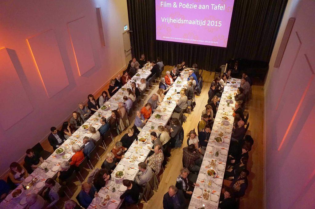 De Nieuwe Liefde - Grote zaal - Diner lange tafels